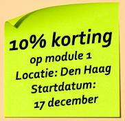 10% korting op module 1 in 2020